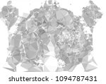 low poly mosaic grayscale... | Shutterstock . vector #1094787431