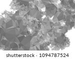 low poly mosaic grayscale... | Shutterstock . vector #1094787524