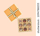 square box of chocolate... | Shutterstock .eps vector #1094788355