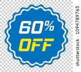 discount sticker vector icon in ... | Shutterstock .eps vector #1094789765