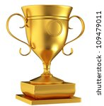 gold cup isolated on white... | Shutterstock . vector #109479011