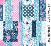 seamless pattern with... | Shutterstock .eps vector #1094791769