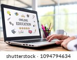 online education concept with... | Shutterstock . vector #1094794634
