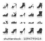 shoes silhouette icons set.... | Shutterstock .eps vector #1094795414