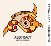 abstract geometric symbol.... | Shutterstock .eps vector #1094798111