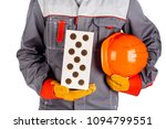 builder worker with a brick and ... | Shutterstock . vector #1094799551