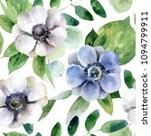 seamless pattern with white and ... | Shutterstock . vector #1094799911