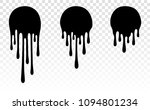 paint dripping. dripping liquid.... | Shutterstock .eps vector #1094801234