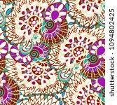 seamless ethnic folklore... | Shutterstock .eps vector #1094802425