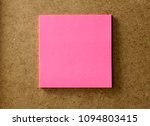 Small photo of sheet of pink paper, stuck to the wall of m. It is used to write notes, messages, incorporate text.