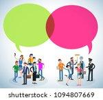flat design speech bubble ... | Shutterstock .eps vector #1094807669