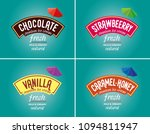 ice cream logo   brand vector.... | Shutterstock .eps vector #1094811947