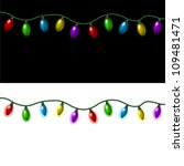 strings of christmas lights on... | Shutterstock .eps vector #109481471