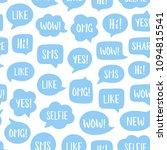 vector seamless pattern of blue ...   Shutterstock .eps vector #1094815541