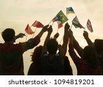 different flag gathering.... | Shutterstock . vector #1094819201