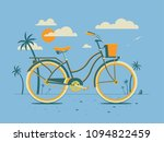 retro style bicycle   cruiser... | Shutterstock .eps vector #1094822459