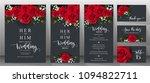 wedding invitation card... | Shutterstock .eps vector #1094822711