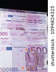Small photo of Big amount of Five hundred notes of European Union Currency
