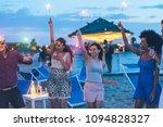happy friends having fun beach... | Shutterstock . vector #1094828327
