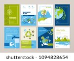 set of brochure and annual... | Shutterstock .eps vector #1094828654
