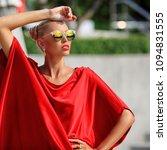 fashion portrait of blonde girl ... | Shutterstock . vector #1094831555