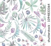 watercolor hand drawn seamless... | Shutterstock . vector #1094833364