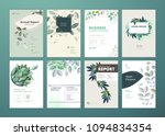set of brochure and annual... | Shutterstock .eps vector #1094834354