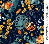 blossom floral seamless flower... | Shutterstock .eps vector #1094836034