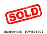 sold stamp  red isolated on... | Shutterstock .eps vector #1094836301