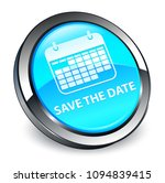 save the date isolated on 3d... | Shutterstock . vector #1094839415