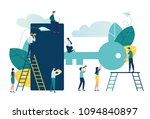 vector flat illustration ... | Shutterstock .eps vector #1094840897