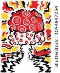 cartoon vector poster of... | Shutterstock .eps vector #1094847254