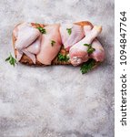 raw chicken meat fillet  thigh  ... | Shutterstock . vector #1094847764
