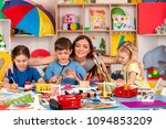 painting projects for kids in...   Shutterstock . vector #1094853209