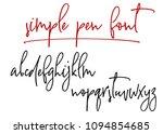 ballpen handwritten vector... | Shutterstock .eps vector #1094854685