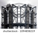 industrial facility. black and...   Shutterstock . vector #1094858219