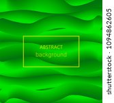 abstract green wave 3d lines... | Shutterstock .eps vector #1094862605