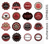 collection of various chocolate ...   Shutterstock .eps vector #109486331
