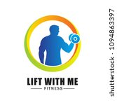 fitness logo isolated on white...