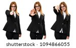 set of young business woman...   Shutterstock . vector #1094866055