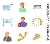 collector icons set. cartoon...   Shutterstock . vector #1094867255