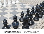Outdoor Chess Board With Big ...