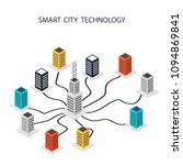smart city. data center ... | Shutterstock .eps vector #1094869841