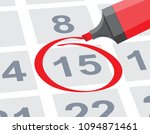 save the date with red circle... | Shutterstock .eps vector #1094871461