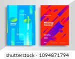 minimal covers design with... | Shutterstock .eps vector #1094871794