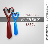 fathers day gift post greeting... | Shutterstock .eps vector #1094873174