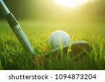 blurred golf club and golf ball ... | Shutterstock . vector #1094873204