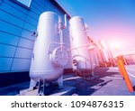 the tank with water  carbon and ... | Shutterstock . vector #1094876315