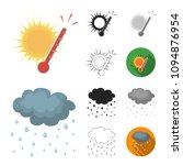 different weather cartoon black ...   Shutterstock .eps vector #1094876954