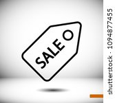 sale tag icon  stock vector... | Shutterstock .eps vector #1094877455